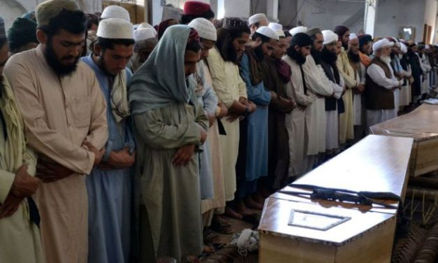 Pakistan attack: Peshawar religious school holds prayers hours after blast